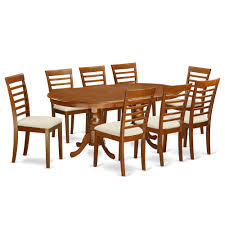 8 Piece Dining Room Set by Mid 20th Century Oak Dining Room Table With Eight Leather 9 Pc