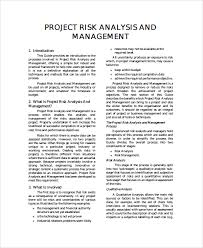 sample project risk management templates 7 free documents