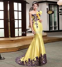 wedding evening dresses free shipping new arrival yellow evening dresses for women
