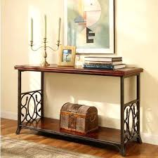Wrought Iron Accent Table American Country Furniture Wrought Iron Console Table Solid Wood