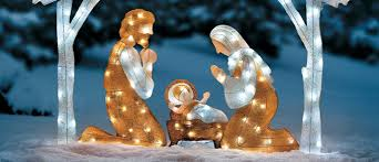 2015 outdoor lighted nativity sets