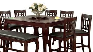 Dining Room Table With Lazy Susan by Kitchen Table With Built In Lazy Susan Youtube