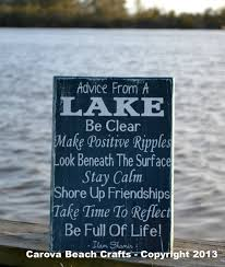 lake house decor lake sign advice from a by carovabeachcrafts