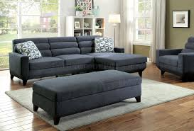 Gray Sectional Couch Jensen Sectional Sofa Cm6790 In Dark Gray Fabric W Options