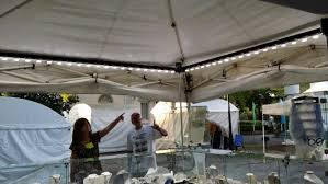 Portable Art Show Booth Lights That Run On Battery For Outdoor Tent