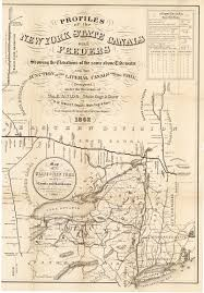 Map Of The Erie Canal Cayuga County Nygenweb Project Map Page