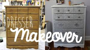 Wooden Furniture Paint Diy Dresser Furniture Makeover With Glitter Youtube