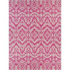 Pink Indoor Outdoor Rug Artistic Weavers Cranleigh Bright Pink 7 Ft 10 In X 10 Ft 3 In
