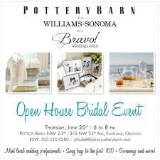 visit us at pottery barn bridal open house best portland wedding