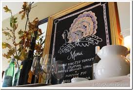 thanksgiving decorating ideas turkey chalkboard in my own style