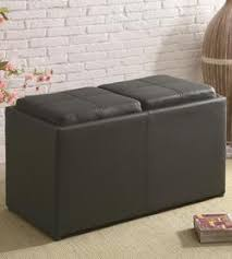 coaster ottomans storage ottoman with reversible top with hard