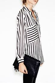 black and white striped blouse striped curved hemline shirt oasap com
