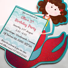 mermaid birthday party invitation by ink pudding