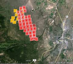 map of oregon evacuation oregon two bulls west of bend wildfire today
