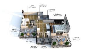 House Plan 1761 Square Feet 57 Ft by Crystal Heights In Wakad Pimpri Chinchwad Pune By Satish Bora