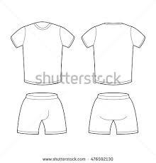 sample sports clothing soccer tshirt shorts stock vector 480411994