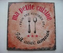 tableau cuisine tableau décoratif style affiche vintage pour cuisine ou salon