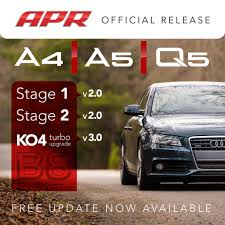 audi a4 2 0 turbo upgrade apr is pleased to announce enhancements to our entire b8 a4