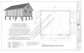 rustic garage plans two car garage with attic truss roof plan g448 24u0027 x 20u0027 x 8u0027 free pdf garage plans blueprints documents