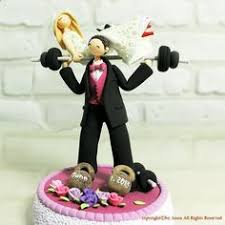 weight lifting cake topper weight lifting wedding cake topper yes if i decide to get