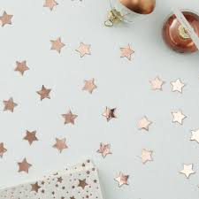 gold star shaped confetti table scatter wedding christmas