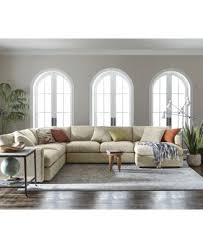 Macy S Furniture Sofa by Clinton Fabric 5 Piece Sectional With Apartment Sofa Created For