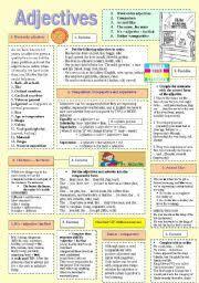 english worksheets adjective order worksheets
