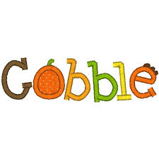 turkey 2 thanksgiving applique clip library