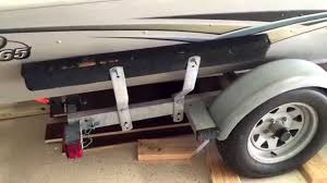 boat trailer guides with lights boat trailer replace side bunk carpet youtube