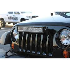 jeep jk light bar brackets paramount 20 led light bar bracket through grille jeep wrangler