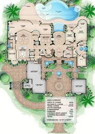 luxury home plans with pictures plan w66008we corner lot luxury premium collection florida