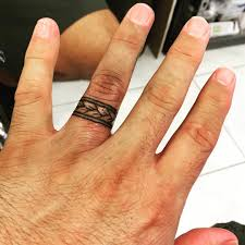 wedding rings 3d wedding ring tattoos left hand ring finger