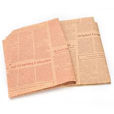 newspaper wrapping paper 1pcs vintage newspaper wrapping paper gift wrap artware packing