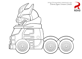 transformers angry birds coloring pages