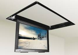 Swivel Ceiling Tv Mount by Motorized Drop Down Ceiling Tv Bracket For 32 In To 52in Tvs