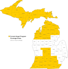 Map Michigan Counties by Msp Msp Angel Program