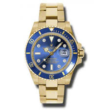 rolex white gold oyster bracelet images Rolex submariner blue dial 18k yellow gold oyster bracelet jpg