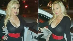 coco austin wears insanely low cut black dress to celebrate st