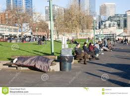 homeless bench sleeping in the day editorial photo image 54060101