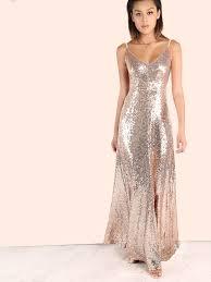 gold maxi dress backless sequin cami maxi dress gold shein sheinside