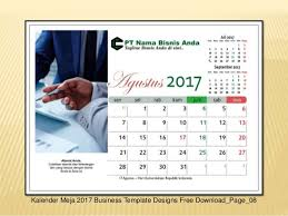 2017 desktop calendar template for indonesian vector pdf corel