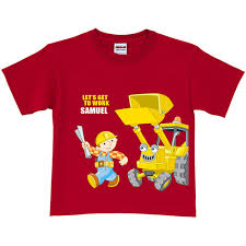 personalized scoop personalized bob the builder get to work scoop toddler t shirt