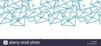 envelope border pattern postal letters envelopes line art horizontal seamless pattern stock