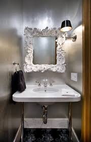 contemporary mirrors for powder room powder room contemporary with