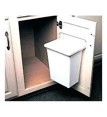 built in trash can cabinet elegant pull out built in trash cans cabinet slide out under sink