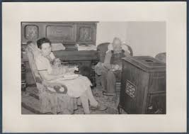 Old Man In Rocking Chair Sunlight Thur Door On Lady U0027s Legs Rocking Chair Old Vintage Photo
