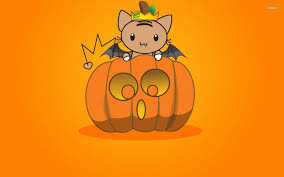 halloween pumpkin wallpaper cute bat on a halloween pumpkin walldevil