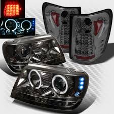2001 jeep grand cherokee brake light jeep grand cherokee 1999 2004 smoked halo projector headlights and