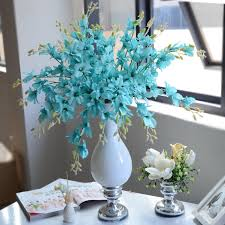 Artificial Flowers In Vase Wholesale Artificial Blue Orchids Artificial Blue Orchids Suppliers And