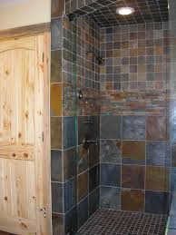 Slate Tile Bathroom Shower Comfortable Slate Tile In Bathroom Shower For Home Interior Design